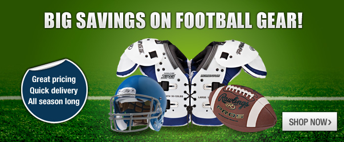 discounted football equipment