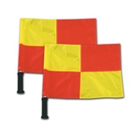 Deluxe Linesman Soccer Flags With Foam Grips Pair